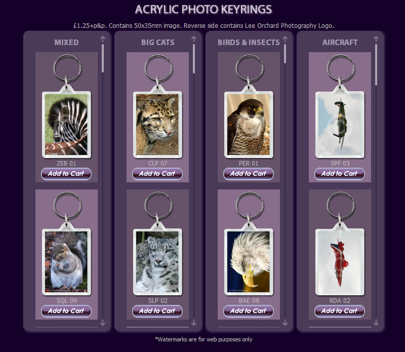 Lee Orchard Photography Keyrings